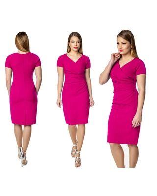 Amarantowa sukienka na każdą okazję 52 CAMILL 239