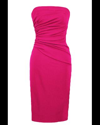Różowa dopasowana sukienka...