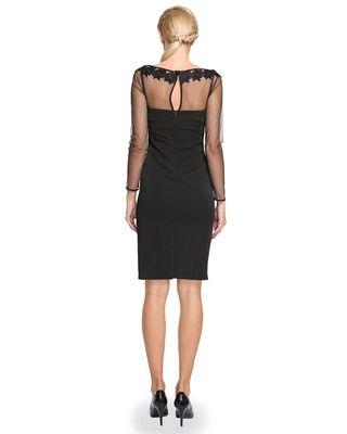 Nowoczesna mała czarna ołówkowa sukienka Camill 278 2