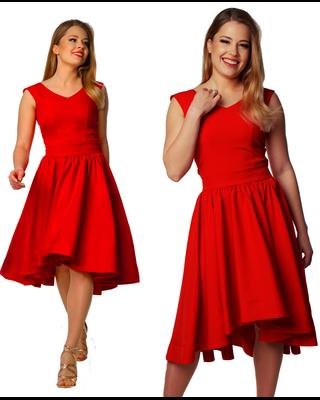Czerwona sukienka z koła z...