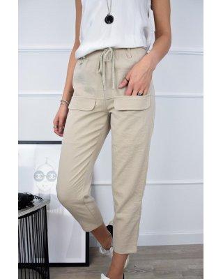 dzianinowe spodnie z...