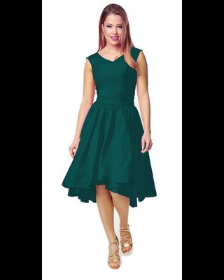 Zielona sukienka z koła z...