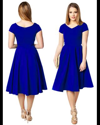 Chabrowa sukienka z koła z...