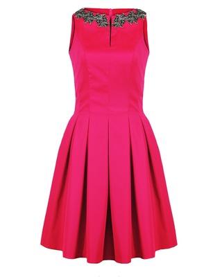 Wizytowa sukienka w kontrafałdy CAMILL 203