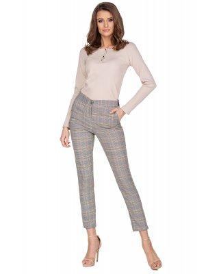 eleganckie spodnie w kratkę...