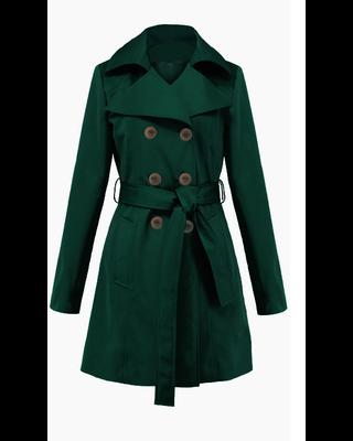 Zielony trencz płaszcz na...