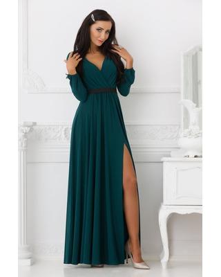 Zielona butelkowa suknia...