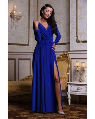 Szafirowa suknia wieczorowa...