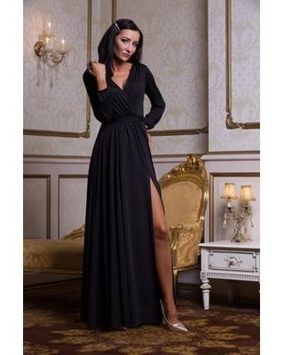 Czarna suknia wieczorowa z...