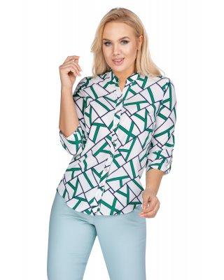 bluzka o koszulowym kroju z...