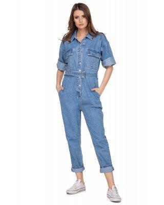 jeansowy kombinezon w stylu...