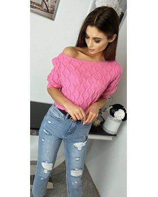 sweter typu crop top z...