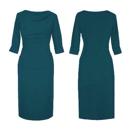Sukienka z rękawem do pracy,biura,na co dzień CAMILL 147A
