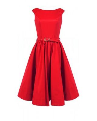 Rozkloszowana sukienka z koła a'la pin-up girl CAMILL 160 4