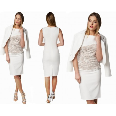 Camill 161k Elegancka sukienka z żakietem na komunię