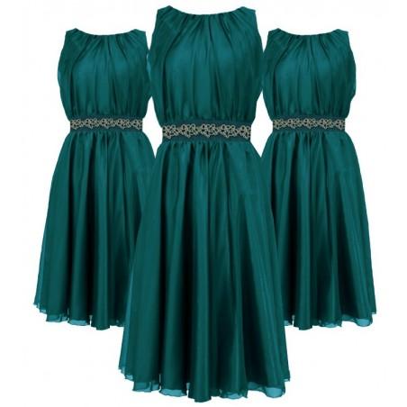 Zwiewna,szyfonowa sukienka na wesele CAMILL 172 1