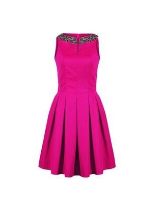 Wizytowa sukienka w kontrafałdy CAMILL 203 5