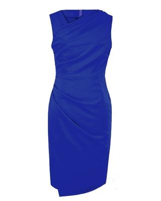 Asymetryczna ,ołówkowa sukienka CAMILL 206