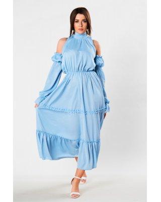 tiulowa sukienka maxi z...