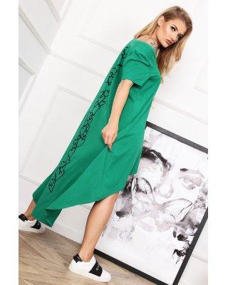 bawełniana sukienka z...