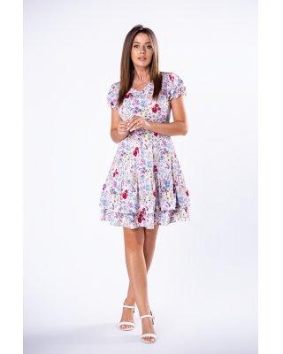 wzorzysta sukienka z...