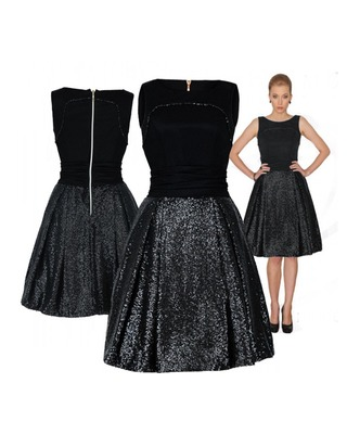 Gorsetowa sukienka z cekinową spódnicą CAMILL 189 1