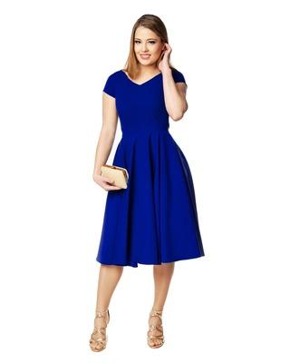 Rozkloszowana sukienka z rękawem CAMILL 165