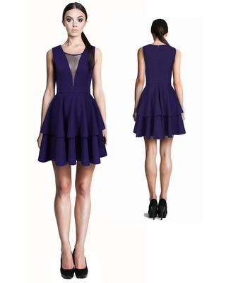 Seksowna rozkloszowana sukienka z dekoltem w V CAMILL 256 2