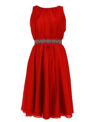 Zwiewna,szyfonowa sukienka na wesele granatowa r.38 CAMILL 172