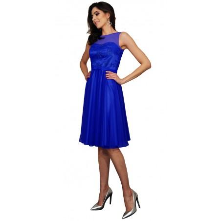 Zwiewna  dziewczęca koronkowa sukienka na wesele  Camill 360