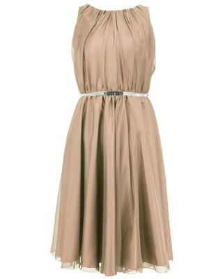 Zwiewna sukienka na wesele z ozdobnym paskiem CAMILL 172B 5