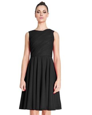 Wygodna ,elegancka szyfonowa sukienka z koła  Camill 267