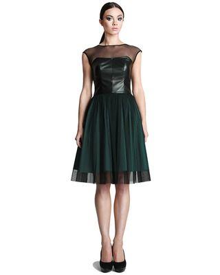 Gorsetowa  wieczorowa tiulowa sukienka zielona 52 Camill 246