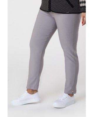 spodnie cygaretki z gumką w...