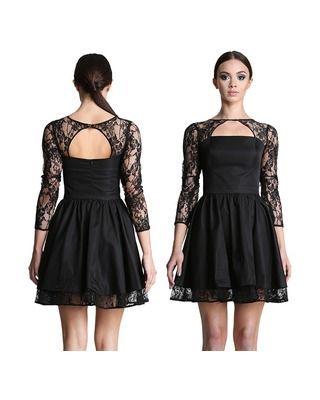 Rozkloszowana sukienka z koronkowym bolerkiem CAMILL 248 8