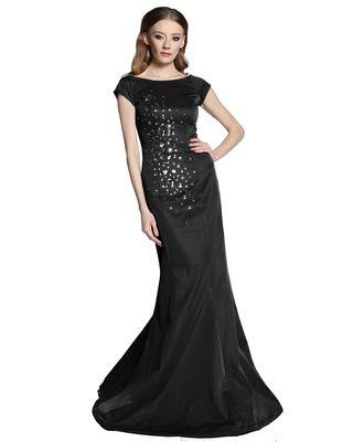 Camill E05 Długa, wieczorowa suknia z kryształami w kształcie syreny na studniówkę ,bal