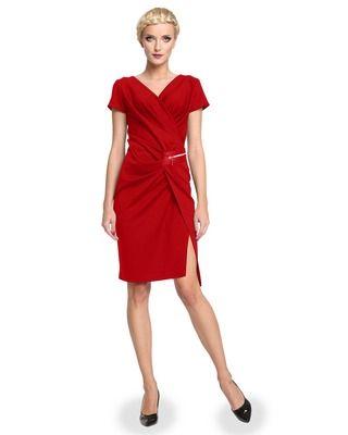 Wyszczuplająca , marszczona sukienka CAMILL 277 1