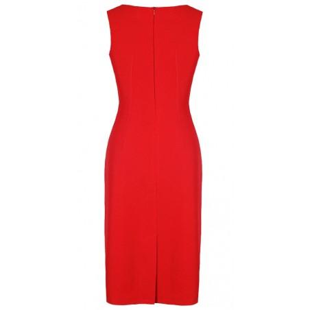 Wąska elegancka wyszczuplająca sukienka CAMILL 147 MIDI 5
