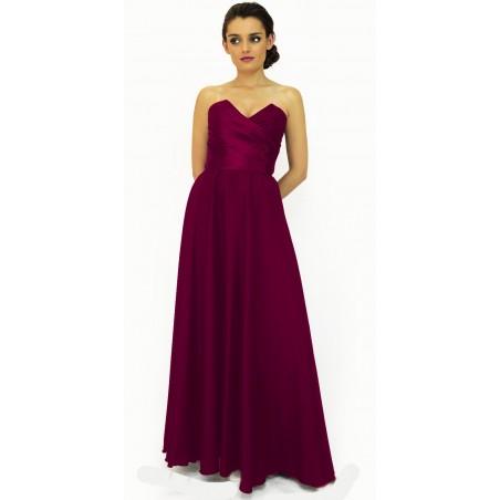 Gorsetowa szafirowa suknia wieczorowa Camill 154