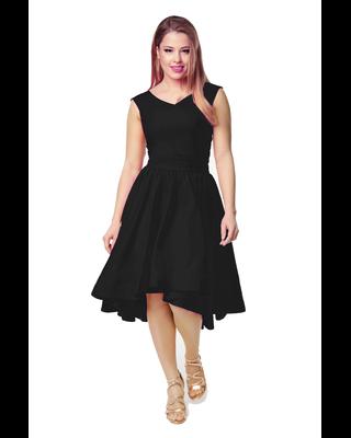 Czarna sukienka z koła z...