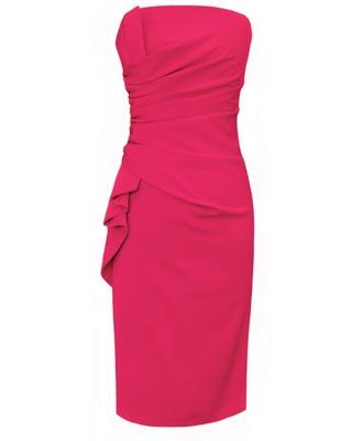 Ołówkowa sukienka odsłaniająca ramiona CAMILL 137 2