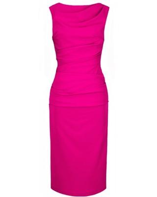 Wąska elegancka wyszczuplająca sukienka CAMILL 147 MIDI 1