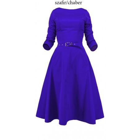 Rozkloszowana sukienka z rękawem CAMILL 164 5