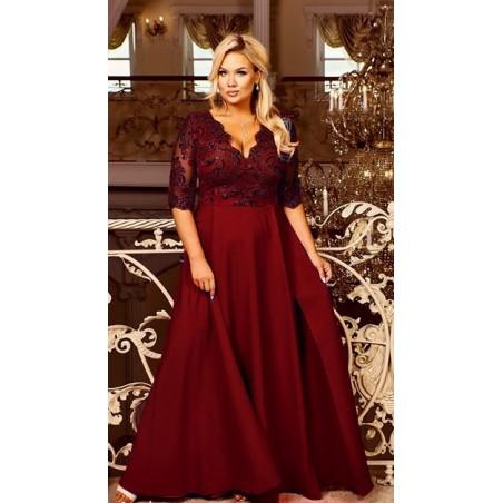 Długa koronkowa wieczorowa suknia CAMILL 302 1