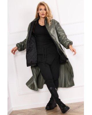 płaszcz z plisowanym tylem...