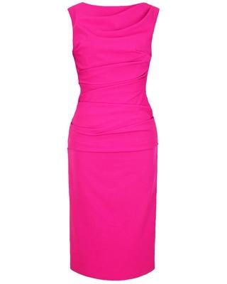 Wąska elegancka wyszczuplająca sukienka CAMILL 147 MIDI 8