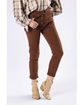 jeansowe spodnie z paskiem...