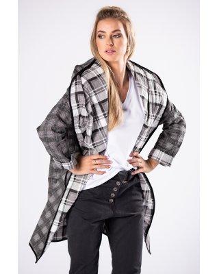oversize'owy płaszcz w...