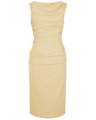 Wąska elegancka wyszczuplająca sukienka CAMILL 147 MIDI 2