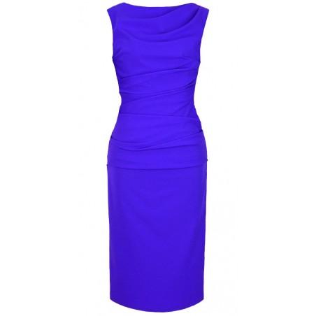 Wąska elegancka wyszczuplająca sukienka CAMILL 147 MIDI 7